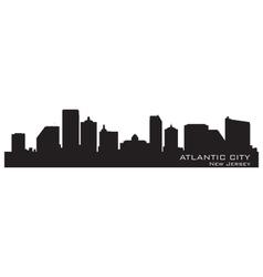Atlantic City New Jersey skyline Detailed silhouet vector image vector image