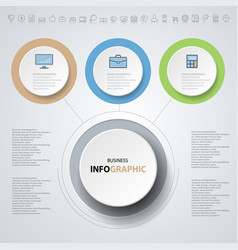 infographics design marketing icons for business vector image vector image