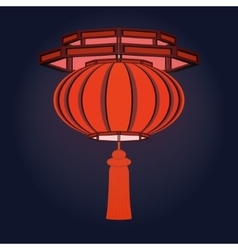 Red Chinese lantern vector image vector image
