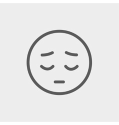 Tired face thin line icon vector image vector image