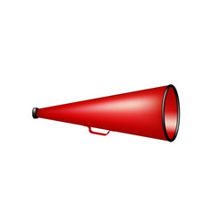 vintage megaphone in red design vector image vector image