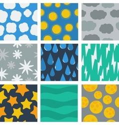 seamless pattern of weather conditions vector image