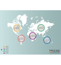 world map infographics vector image vector image