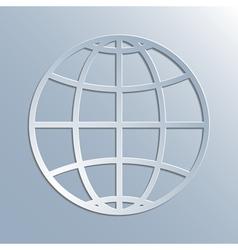 earth symbol icon vector image vector image