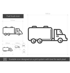fuel truck line icon vector image