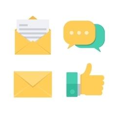 Message symbols vector image vector image