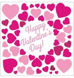 Pink Hearts - Valentines day vintage lettering vector image