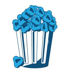 pop corn bucket icon vector image vector image