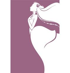 romantic bride vector image vector image