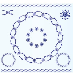 Set of rustic circle frames vector image vector image