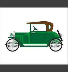 short green vintage car vector image