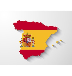 Spain map with shadow effect vector image vector image