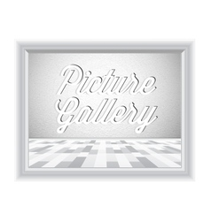 Empty gallery wall with frame vector image