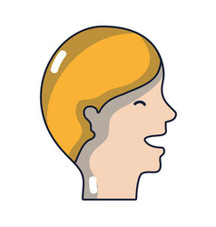 Man head with hairstyle design vector