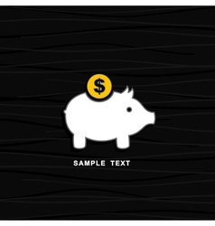 Pig a coin box vector
