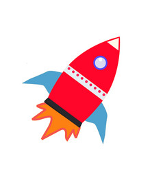 rocket icon on white background rocket sign vector image vector image