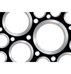 Silver bubble background vector image vector image