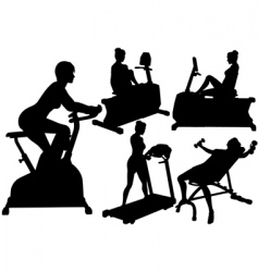 women gym fitness exercise workouts vector image vector image