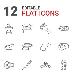 12 barbecue icons vector