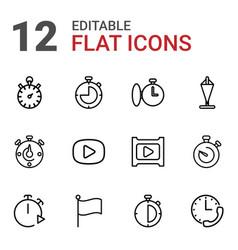 12 start icons vector