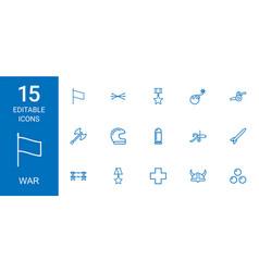 15 war icons vector