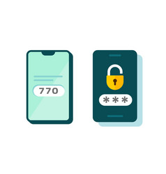 2fa icon password secure login vector
