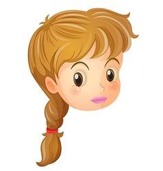 A pretty face of a girl vector