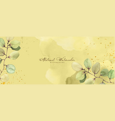 abstract art background with eucalyptus vector image
