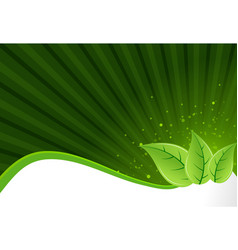 Abstract green leaf background vector