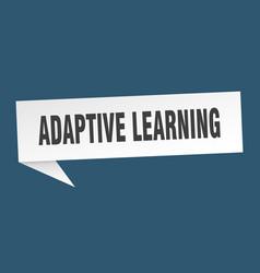 Adaptive learning speech bubble adaptive learning vector