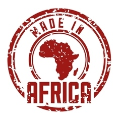 Africa design map shape icon grunge graphic vector image