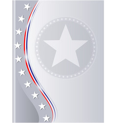 American flag stars abstract background vector