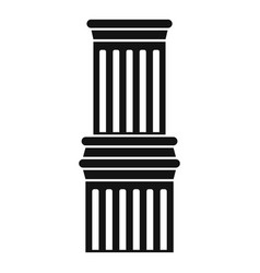 ancient column icon simple style vector image