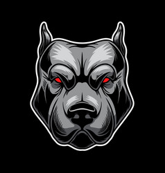Angry dog head design element for logo label sign vector