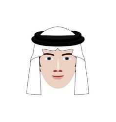 Arabian man profile icon vector