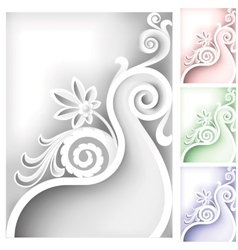 baroque element vector image