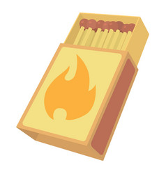 Box matches icon cartoon style vector