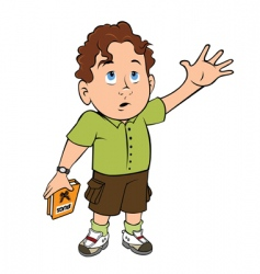 boy with question vector image
