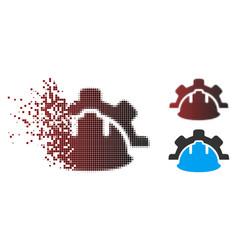 broken pixel halftone industrial development icon vector image