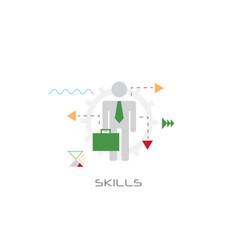 businessperson leadership knowledge creative idea vector image