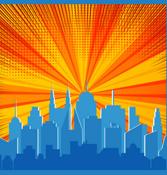 comic explosive and dynamic template vector image