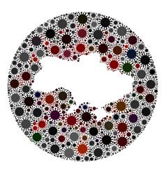 covid19 virus hole round ukraine map mosaic vector image