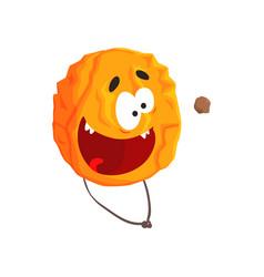 cute humanized venus planet character orange vector image