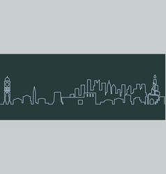 doha single line skyline vector image