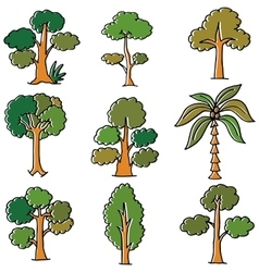 Doodle of tree style nature vector