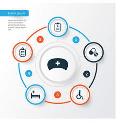 Drug icons set collection of handicapped vector