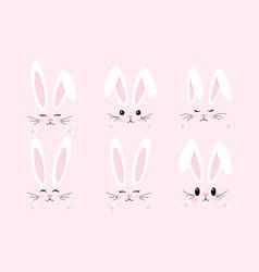 Easter bunny set vector