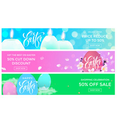 easter sale web banners templates for online store vector image