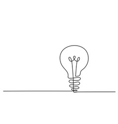 electic light bulb vector image