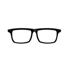 Eye glasses hipster style frames icon vector